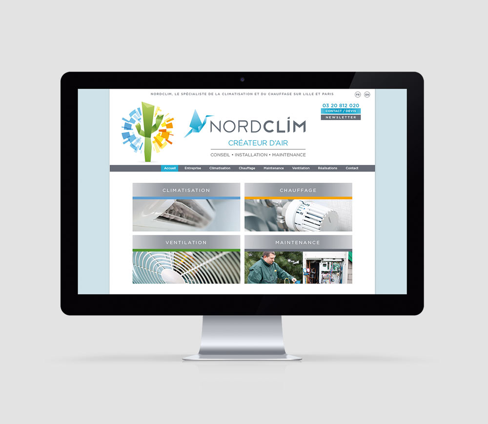 Nord Clim - Site Internet