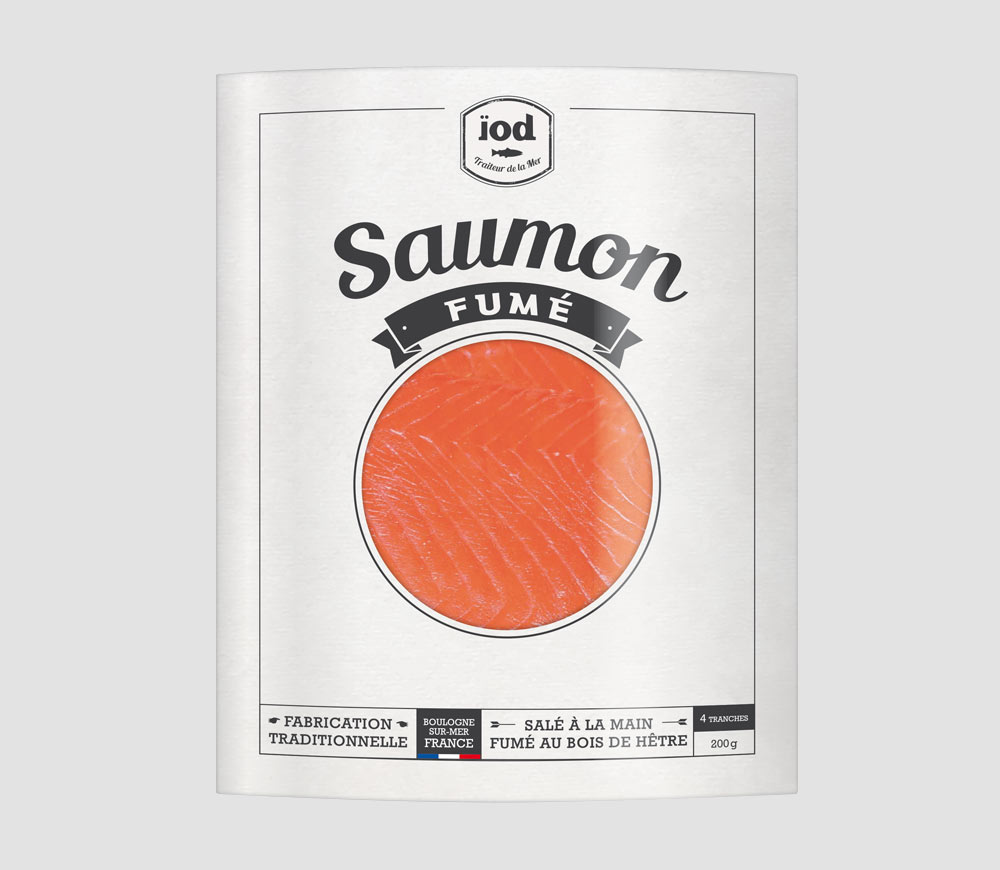 Ïod - Packaging Saumon fumé
