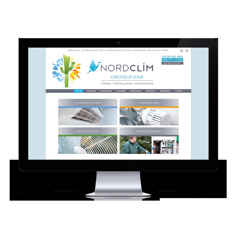 NORDCLIM site web création JBL Com & Cie