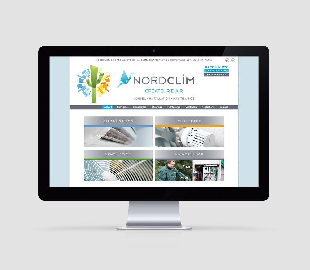 Nord Clim - Site Internet