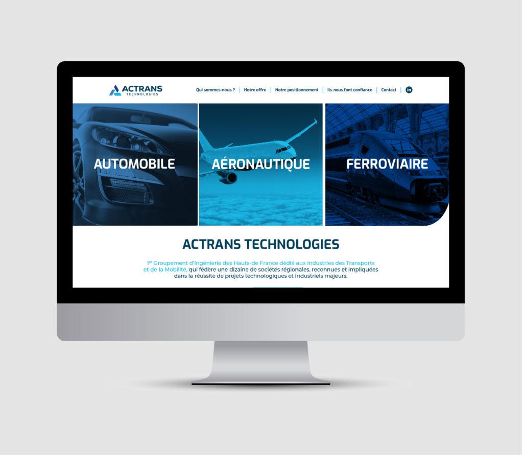 JBL Com & Cie - Portfolio - Site Actrans