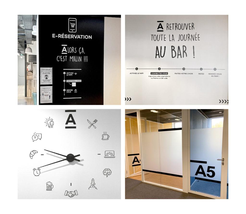 JBL Com & Cie - Portfolio - Balisage et Habillage Graphique Agaponia