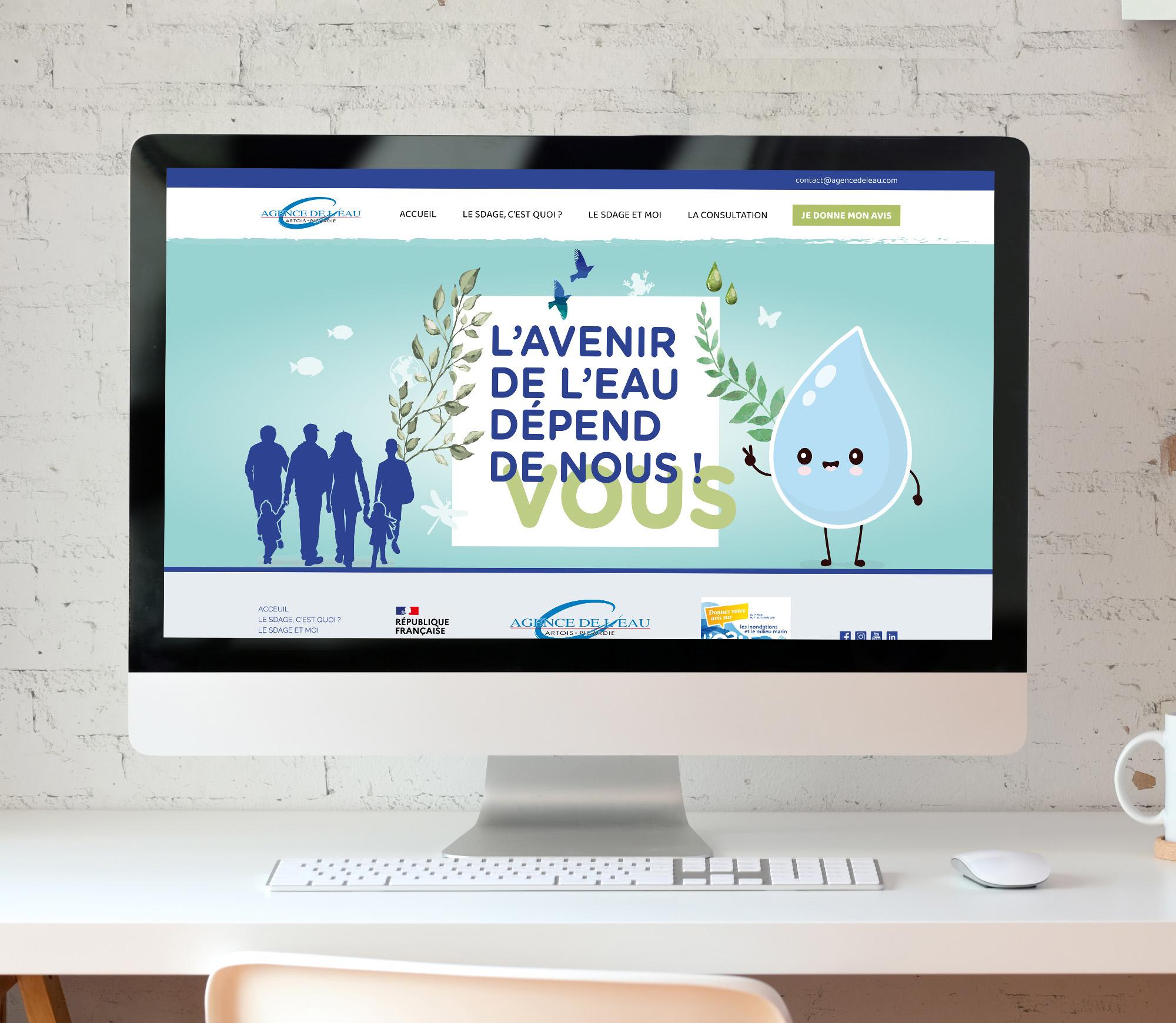 JBL Com & Cie - Portfolio - Site Agence de l'Eau